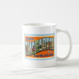 Greetings From Charlotte N.C. , Vintage Coffee Mugs