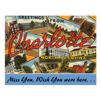 Greetings from Charlotte Postcard