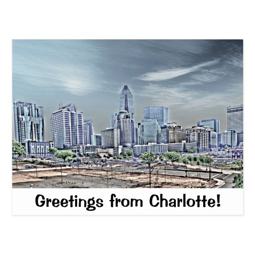 Greetings from Charlotte! Postcard