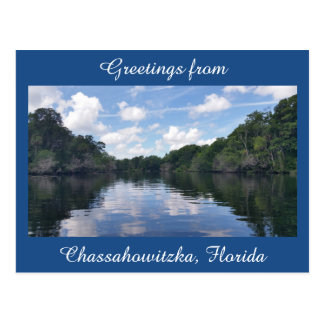 Greetings from Chassahowitzka Florida postcard