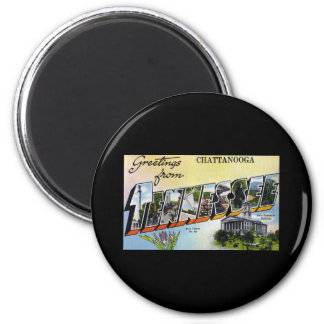 Greetings from Chattanooga Tennesee 2 Inch Round Magnet