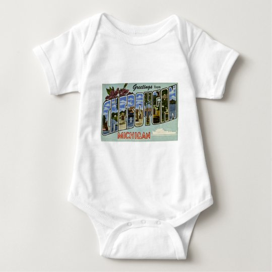 Greetings from Cheboygan Michigan! Baby Bodysuit