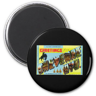 Greetings from Cheyenne Wyoming 2 Inch Round Magnet