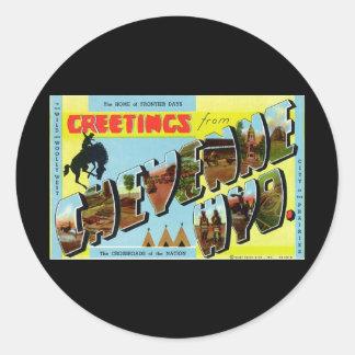 Greetings from Cheyenne Wyoming Classic Round Sticker