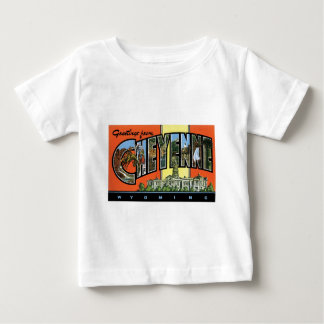 Greetings from Cheyenne,Wyoming! Vintage Post Card Baby T-Shirt