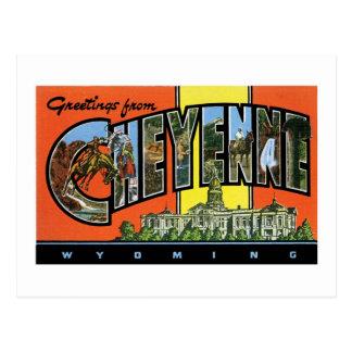 Greetings from Cheyenne,Wyoming! Vintage Post Card
