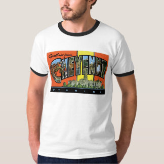 Greetings from Cheyenne,Wyoming! Vintage Post Card T-Shirt