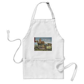 Greetings from Chicago Adult Apron