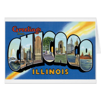 Greetings from Chicago, Illinois! Card