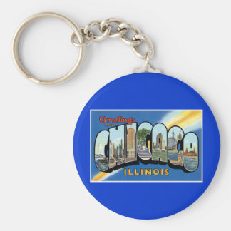 Greetings from Chicago, Illinois! Keychain