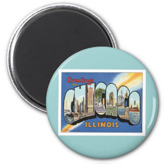 Greetings From Chicago Illinois 2 Inch Round Magnet