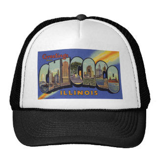 Greetings from Chicago Illinois Trucker Hat