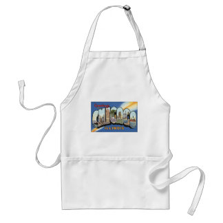 Greetings From Chicago Illinois, Vintage Apron