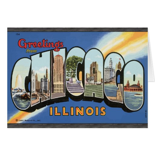 Greetings From Chicago Illinois, Vintage Cards