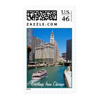 Greetings from Chicago Postage Stamp