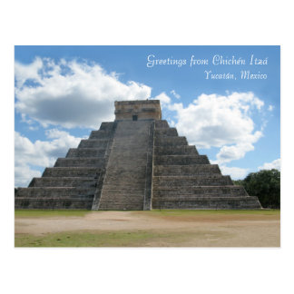 Greetings from Chichén Itzá, Mexico Postcard