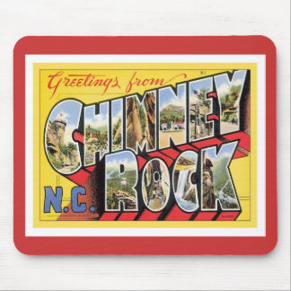 Greetings From Chimney Rock North Carolina Mouse Pad