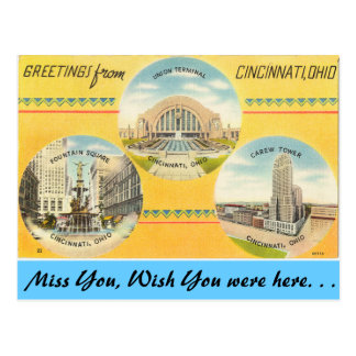 Greetings from Cincinnati Postcard