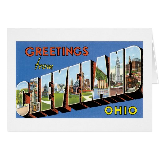Greetings from Cleveland, Ohio! Card