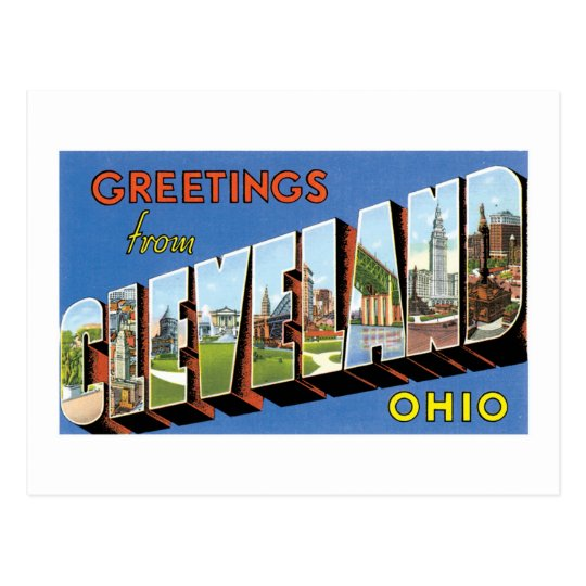 Greetings from Cleveland, Ohio! Postcard