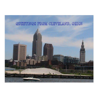 Greetings from Cleveland Ohio (Skyline) Bold Postcard