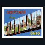 """Greetings From Cleveland Ohio US City Postcard<br><div class=""""desc"""">Greetings From Cleveland Ohio US City Vintage Postcards,  Greetings from all cities of America Postcards. Cleveland is the city in the Cuyahoga County is the most populous county in the state.</div>"""