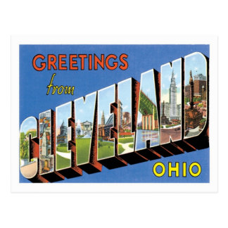 Greetings From Cleveland Ohio US City Postcard