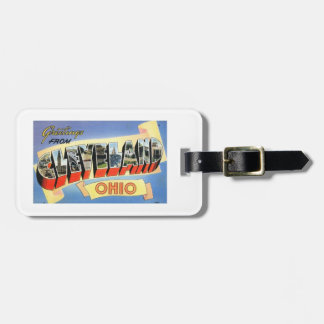 Greetings from Cleveland, Ohio Vintage Bag Tag