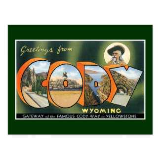 Greetings from Cody, Wyoming! Vintage Post Card