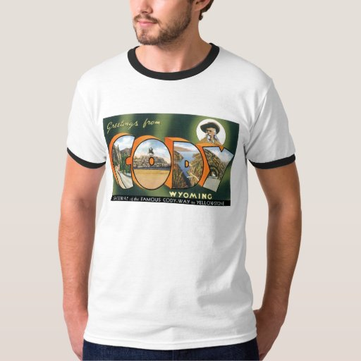 Greetings from Cody, Wyoming! Vintage Post Card T-Shirt