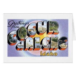Greetings from Coeur d'Alene, Idaho! Greeting Card