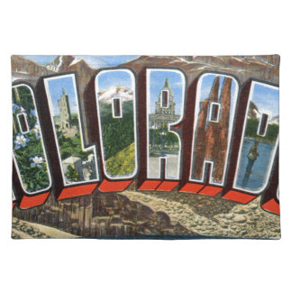 Greetings From Colorado Cloth Placemat