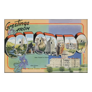 Greetings From Colorado, Vintage Poster