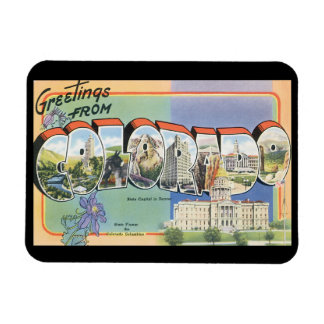 Greetings from Colorado_Vintage Travel Poster Magnet