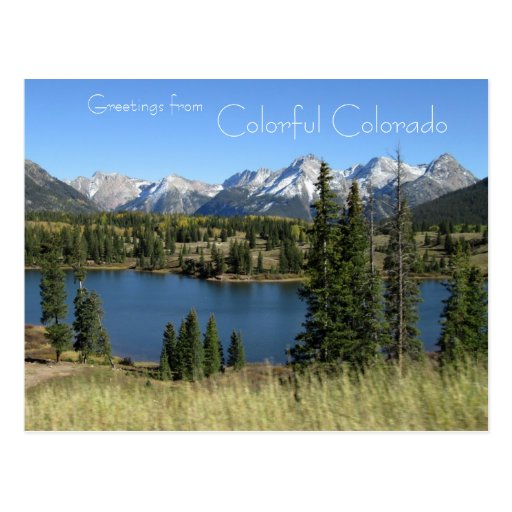 Greetings from Colorful Colorado Postcard