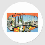 Greetings from Columbia, SC Classic Round Sticker