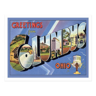 Greetings From Columbus Ohio Postcard