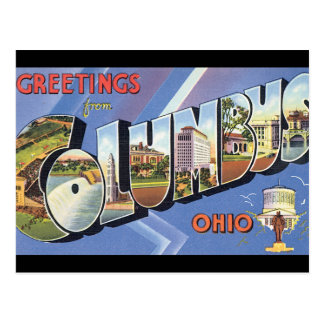 Greetings from Columbus Ohio_Vintage Travel Poster Postcard