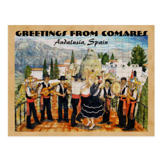 Greetings from Comares / Andalusia, Spain Postcard