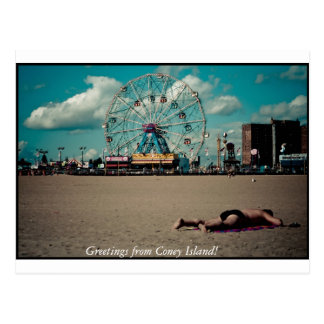 Greetings from Coney Island! Post Card