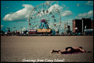 Coney island postcards zazzle greetings from coney island postcard m4hsunfo