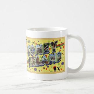 Greetings from Coney Island Vintage Postcard Mug