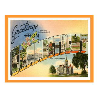 Greetings From Connecticut Postcard