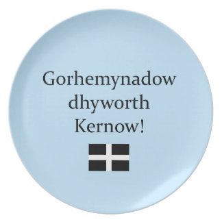 Greetings from Cornwall in Cornish Language Dinner Plate