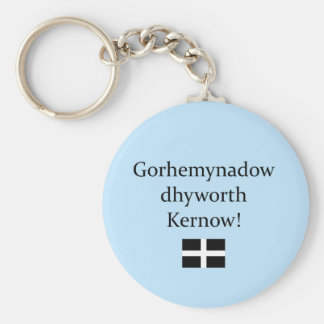 Greetings from Cornwall in Cornish Language Keychain