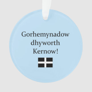 Greetings from Cornwall in Cornish Language Ornament