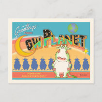 GREETINGS FROM COW PLANET POSTCARD