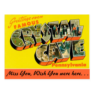 Greetings from Crystal Cave Postcard