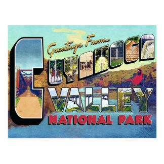 Greetings From Cuyahoga Valley National Park Retro Postcard