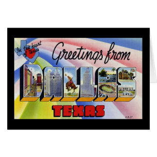 Greetings from Dallas Texas Greeting Cards